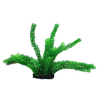 Quick shopping Large Plastic Green Plant Decoration Ornament for Aquarium