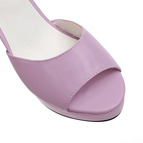 Solid European Womens Purple Sandals 1TO9 Style Metalornament Polyurethane S5twxnq