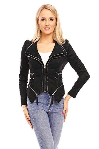 Mayaadi Luxus Damen Jacke Übergangsjacke Weste Mantel Blogger ...