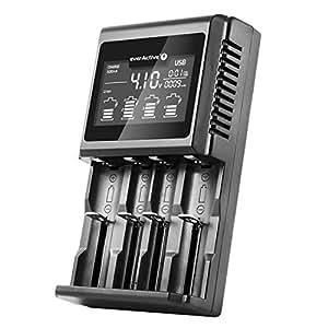 everActive UC-4000 - Cargador para 4 Pilas 18650 AAA AA C D ...
