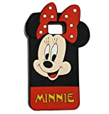Showtime™ S6 Edge Plus Cover 3D Cute Cartoon Figure Soft Gel Rubber Skin Silicone Case for Samsung Galaxy S6 Edge Plus G928 (2016 Minnie Mouse)
