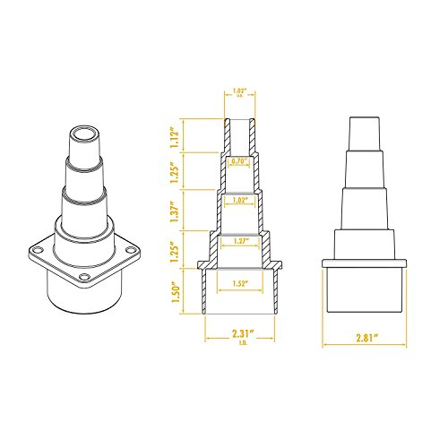 WORKSHOP Wet Dry Vacuum Adapter WS25007A 2-1/2-Inch Universal Wet Dry Shop Vacuum Adapter Is An Ideal Shop Vacuum Accessory