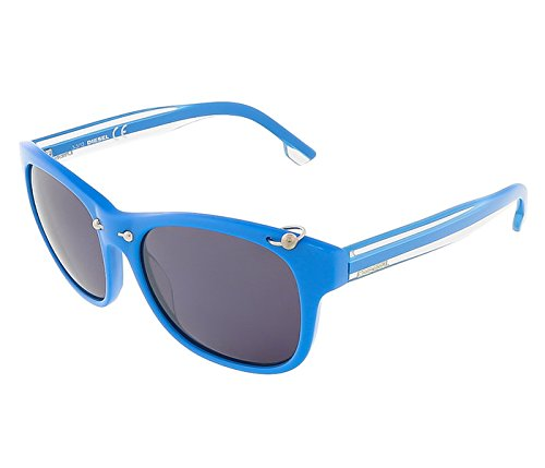 Diesel Plastic Sunglasses - Diesel DL00485387A Round Sunglasses,Turquoise,53 mm