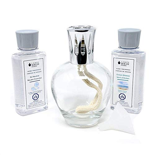 Lampe Berger Giftset - Essential Round - Home Fragrance Diffuser - Includes 2 Fragrances So Neutral and Ocean Breeze - 180 milliliters - 6.08 Fluid Ounces