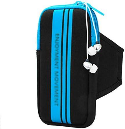 YDFSBB Para 4-5.5 Pulgadas iPhone 6S 6S Plus Sport Armband Phone Bag Case Smartphone Running Gym Arm Band Cinturón Funda Azul: Amazon.es: Deportes y aire libre