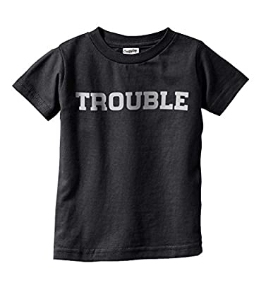 Toddler Trouble Shirt Funny T shirts for Kids Hilarious Troublemaker Gift Idea Cute T shirt