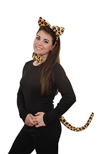 [Jacobson Hat Company Women's Costume Set, Leopard Print, Adult] (Leopard Print Fancy Dress Costumes)