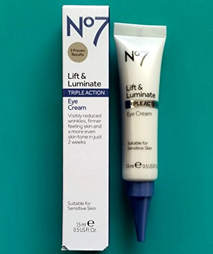 Boots No7 Lift and Luminate Triple Action Eye Cream 1 x 15ml