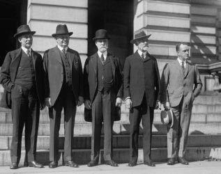 1921 photo Root, Underwood, Hughes, Lodge, Mills, 10/12/21 Vintage Black & Wh e4