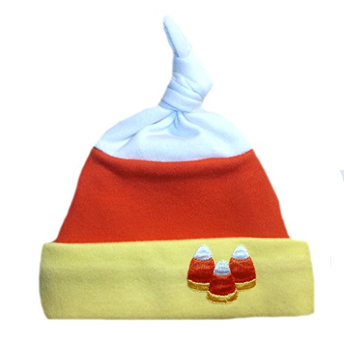 Candy Corn Halloween Fall Baby Hat (Four preemie and newborn sizes), Small Infant 5-8 Pounds (5lb Candy Corn compare prices)