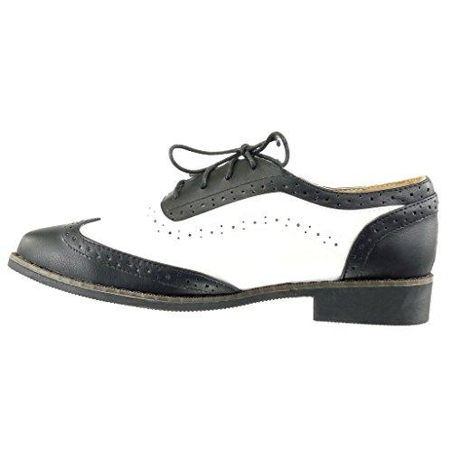 Perforado 2 Pespunte Negro Zapatillas Ancho Cm 5 Acabado Moda Costura Mujer Angkorly Zapato Tacón Acento aXxP6w8n
