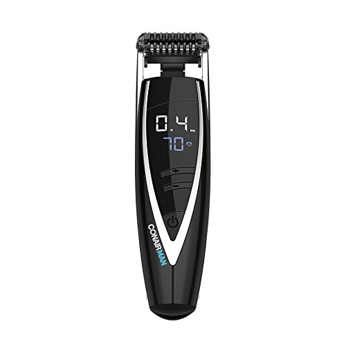ConairMAN Super Stubble Ultimate Flexhead Trimmer; Razor-Sharp Etched Blade Technology with Pivoting Flex Head; 15 Digital Settings ranging; Black - 41fcOrNrqfL - ConairMAN Super Stubble Ultimate Flexhead Trimmer; Razor-Sharp Etched Blade Technology with Pivoting Flex Head; 15 Digital Settings ranging; Black