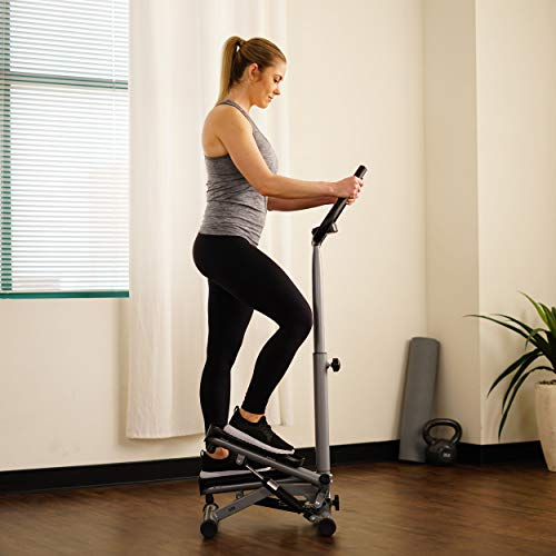 Sunny Health & Fitness Twist Stepper Step Machine w/Handle Bar and LCD Monitor - NO. 059 by Sunny Health & Fitness (Image #12)