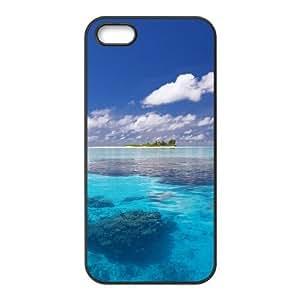 LZHCASE Diy Customized Hard Case Sea Ocean for iPhone 5,5S [Pattern-1]