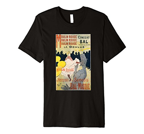 Moulin Rouge Poster Premium T-Shirt | Parisian Camouflage (Moulin Rouge T-shirts)