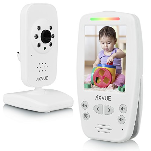 "AXVUE E660 Video Baby Monitor with 2.8"" LCD and Night Vision, Night Light, Temperature Detection, 2-Way Talk,..."