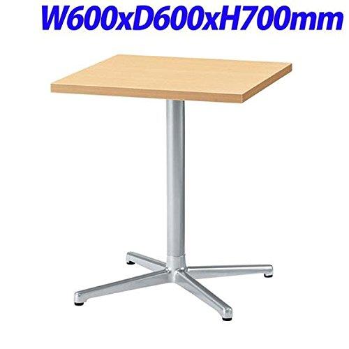 NK シングルレッグテーブル 天板ナチュラルビーチ W600×D600×H700mm SC-X0606K-NB B076DDMX66