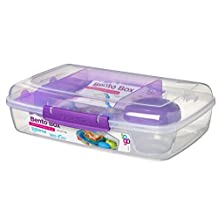 Sistema To Go Collection Bento Box, Clear with Assorted Colors