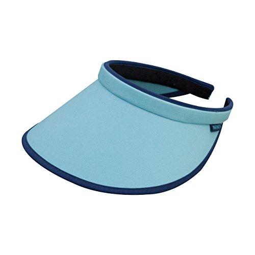 MG Women's Brushed Cotton Clip-On Visor-4129-BLUE-NVY ()
