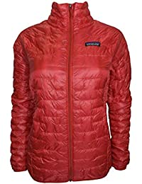 Womens Red Micro Puff Jacket M