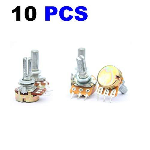 MCIGICM 10K Ohm Linear Taper Rotary Potentiometer, 10KB B10K Pot (10 Piece) ()