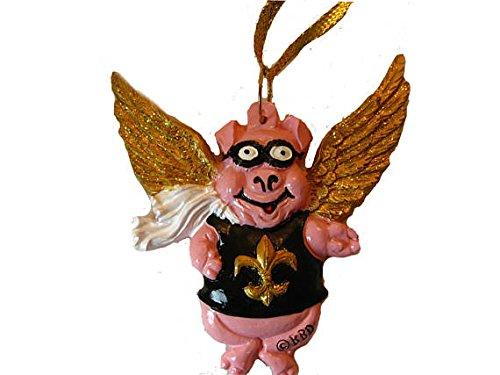 HOLIDAYS R US New Orleans Saints Flying Pig Ornament Bag Saints Superbowl Football Pigs Have Flown Souvenir Louisiana Favor Decoration