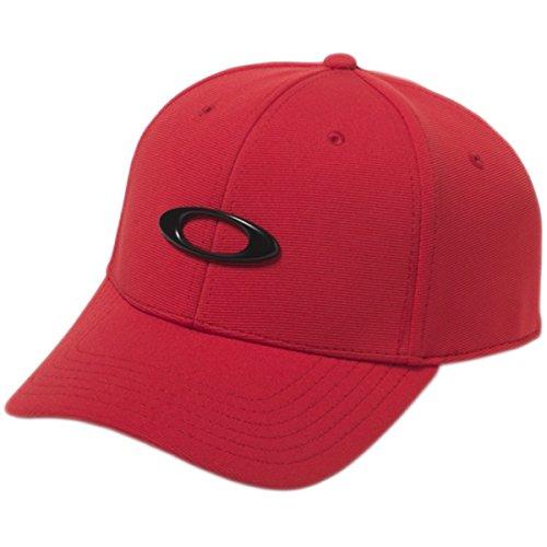 Oakley Men's Tincan Cap Hat, Red Line, - Hat Red Oakley