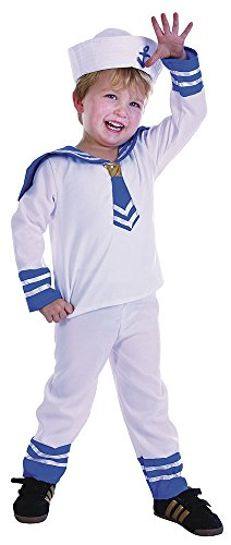 Bristol Novelty Sailor Boy Toddler Costume Age 2 -3 Years