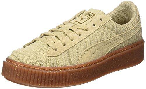 Puma Basket Platform Ow, Sneakers Basses Femme Beige (Safari-safari-whisper White)