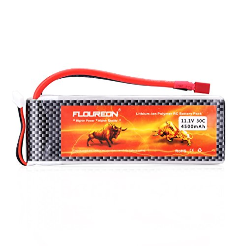 Floureon 11.1V 4500mAh High Power 3S 30C Lipo Battery with Dean-Style T...