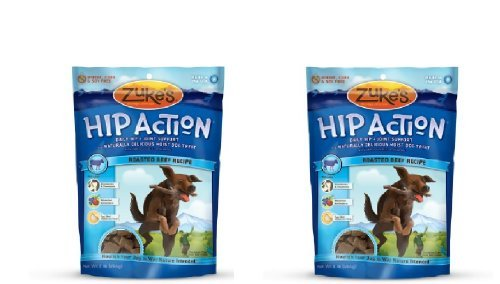 Zuke's Hip Action Natural Dog Treats Beef Flavor With Glucosamine , 2lb