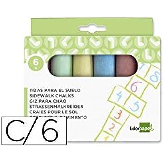 Liderpapel - Tz06 Pack De 6 Tizas, Multicolor: Amazon.es: Oficina y papelería