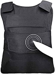 Safety Tactical Vest, High Manganese Steel Armored Gear Resistant Chest Protection Tactical Vest, Used for Wil
