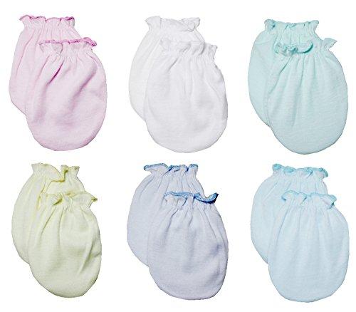 Clickcago Newborn Baby Boys and Girls Gloves,No Scratch Mittens 100% Cotton 6 Pair/set11