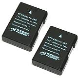 Wasabi Power Battery (2-Pack) for Nikon EN-EL14, EN-EL14a and Nikon Coolpix P7000, P7100, P7700, P7800, D3100, D3200, D3300, D5100, D5200, D5300, Df