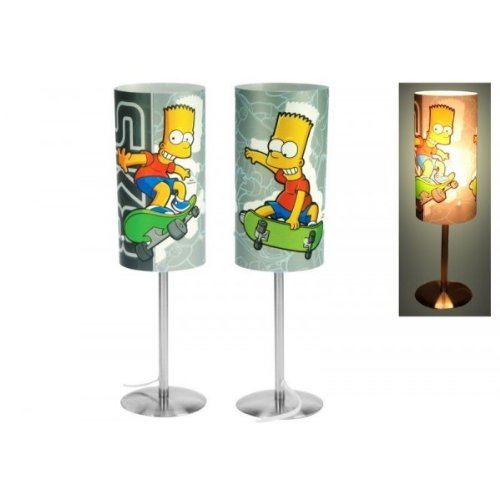 Di&Gi Lampada da Tavolo Cilindro Bart Simpson Skate
