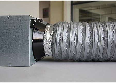 /ø100mm*1.2m Rohrventilator Hon/&Guan Schallged/ämmter L/üftungsschlauch W/ärmeisolierung Alu Flexrohr f/ür Klimaanlage L/änge1,2m
