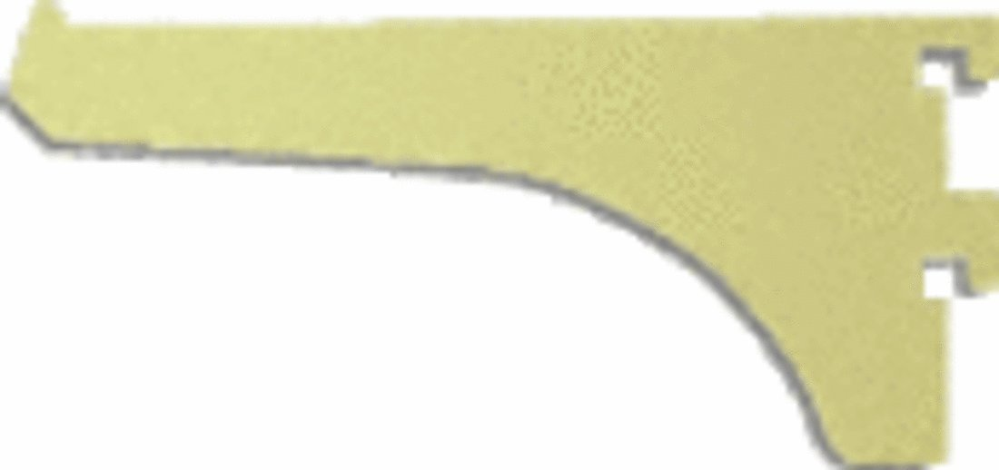 C.R. LAURENCE 122BGA4 CRL Brite Gold Anodized 4'' Aluminum Bracket