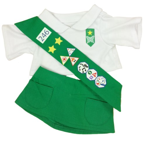 Girl Scouts Costumes (Girl Scout Green Outfit Teddy Bear Clothes Outfit Fits Most 14
