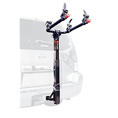 Allen Sports Deluxe 2-Bike Hitch Mount Rack with 1-2 Inch Receiver, Silver/Black