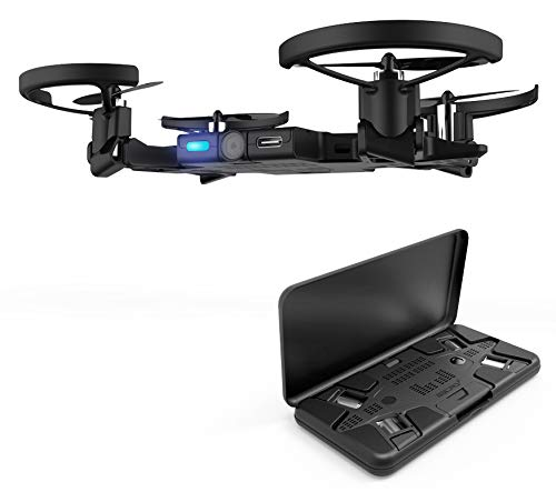 AEE Pocket Selfie Drone, Mini Drones with Camera, Foldable Propellers and Face Tracking Technology. Gesture Control Quadcopter Drones for Kids and Adults, Flight Control via iOS and Android App