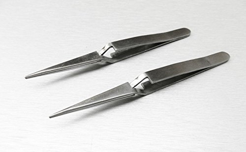 "Cross Locking Tweezers Nice Tip 6 half of"" – 2 PACK"