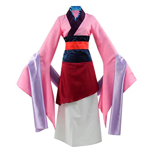 Beauty Costume Chinese Heroine Hua Mulan Dress Halloween Outfit (Woman-S)