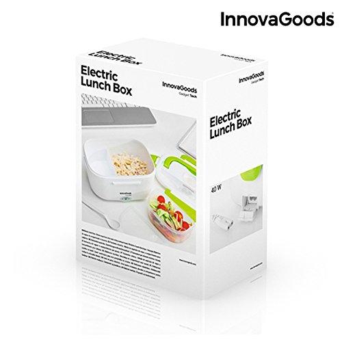 40 W KODZY Global InnovaGoods Fiambrera el/éctrica Color Blanco y Verde