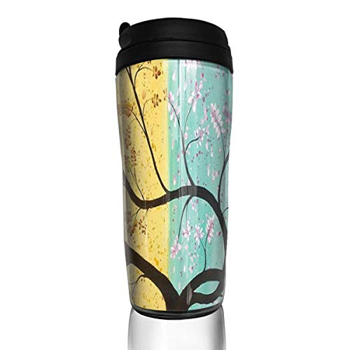 (Coffee Mug Four Seasons Tree Fine Travel Tumbler Insulated Leak Proof Drink Containers Holder Stylish 12 Ounces)