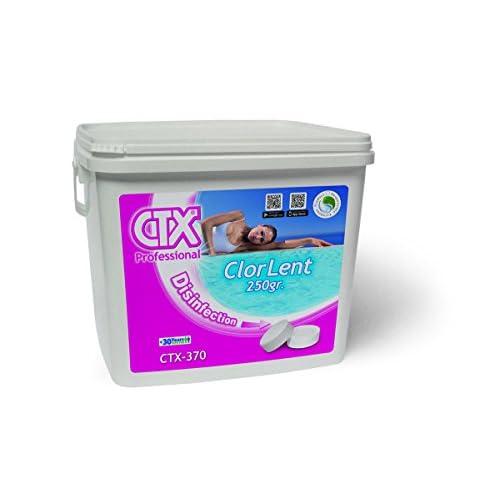 41fcUFMvpML. SS500 Cloro de Mantenimiento Tableta de tricloro de 250 gr de disolución lenta con un 90 % de cloro útil. Compuesto sólido no comburente, altamente estabilizado, para la desinfección y el mantenimiento del agua cristalina e higiénicamente pura.
