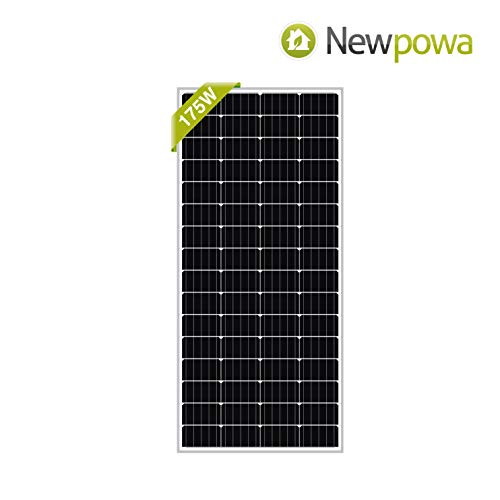 Newpowa 175W RV Solar Panel 175 Watt 12V Monocrystalline High Efficiency Mono Module Marine Boat Off Grid