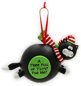 Cat Xmas Ornament Our Name is Mud A Tree Full of Toys FOR ME Enesco, 4024449