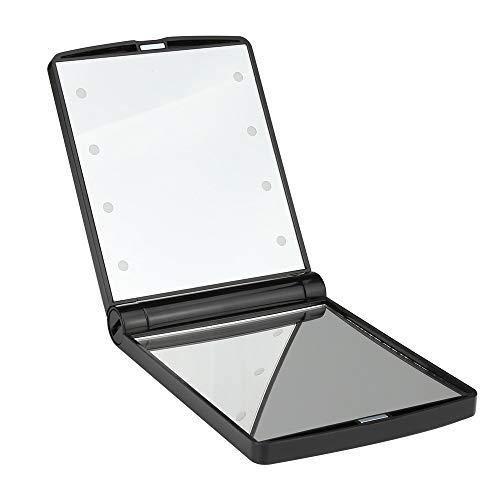 Pocket Makeup Mirror With 8 Led Lights