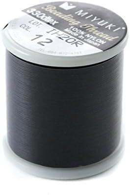 Fais-le toi-m/ême Richte dich selbst L/ötdraht von 50/Metern Spezial Miyuki Beading Nylon schwarz N /° 12